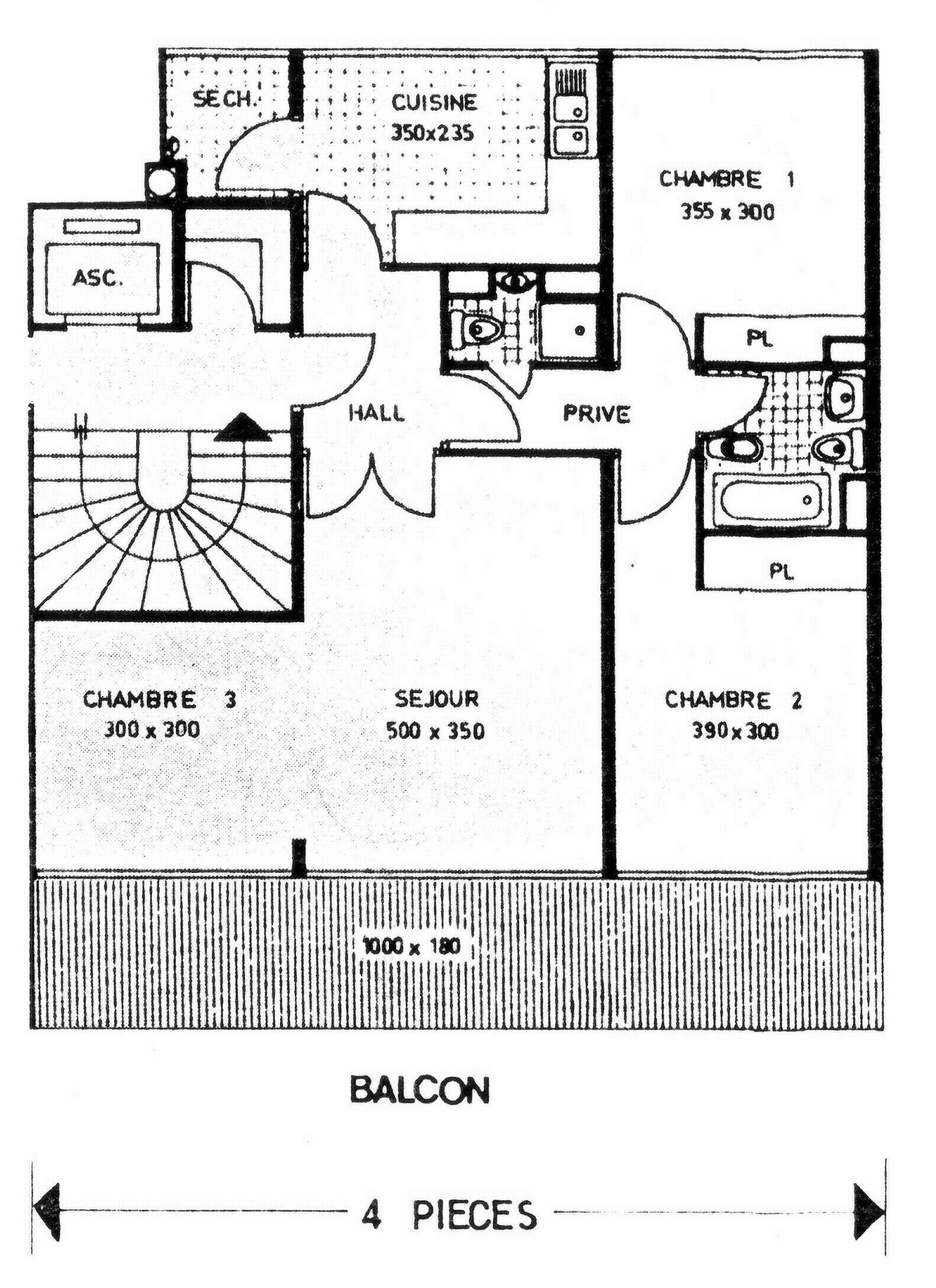 plan appartement etage